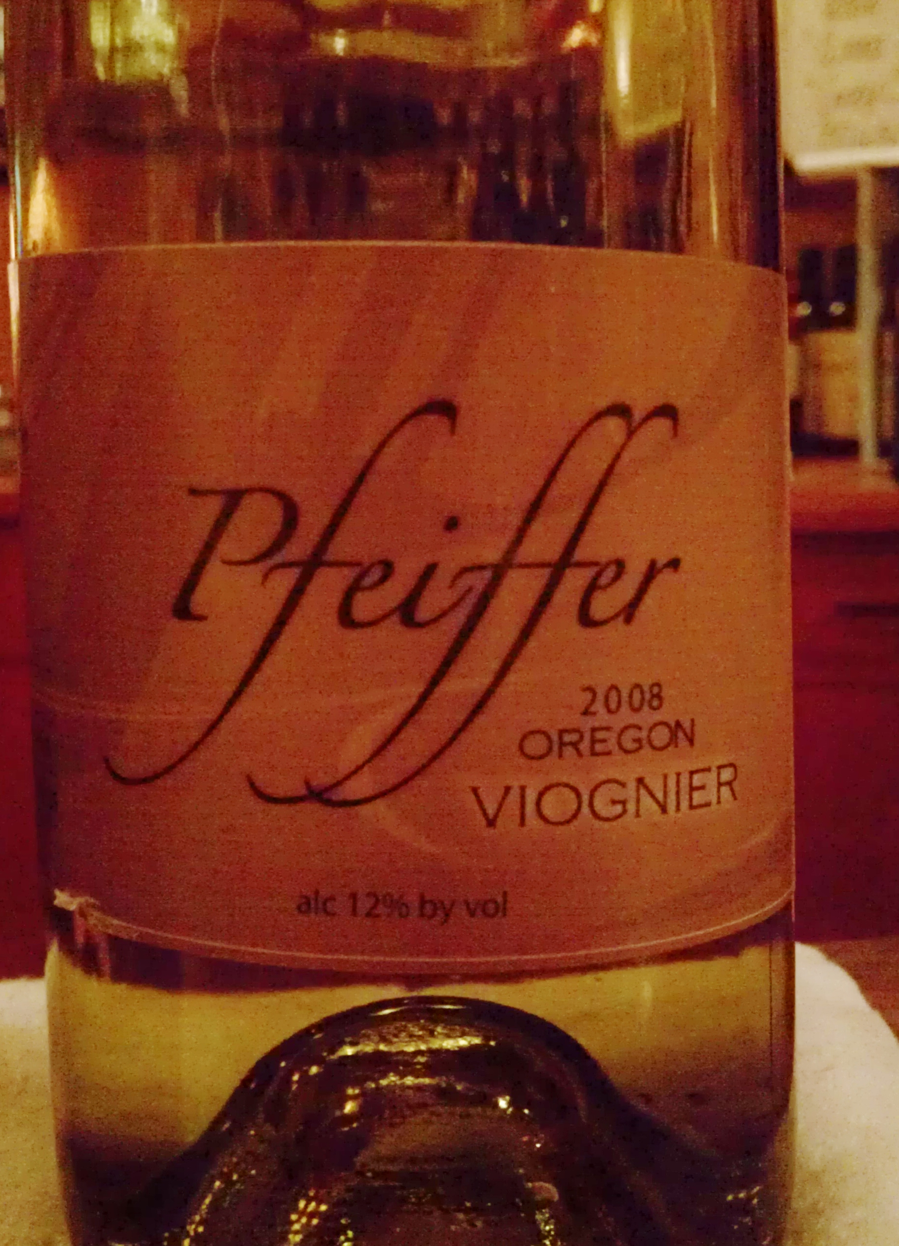 In The Glass: Pfeiffer Viognier 2008
