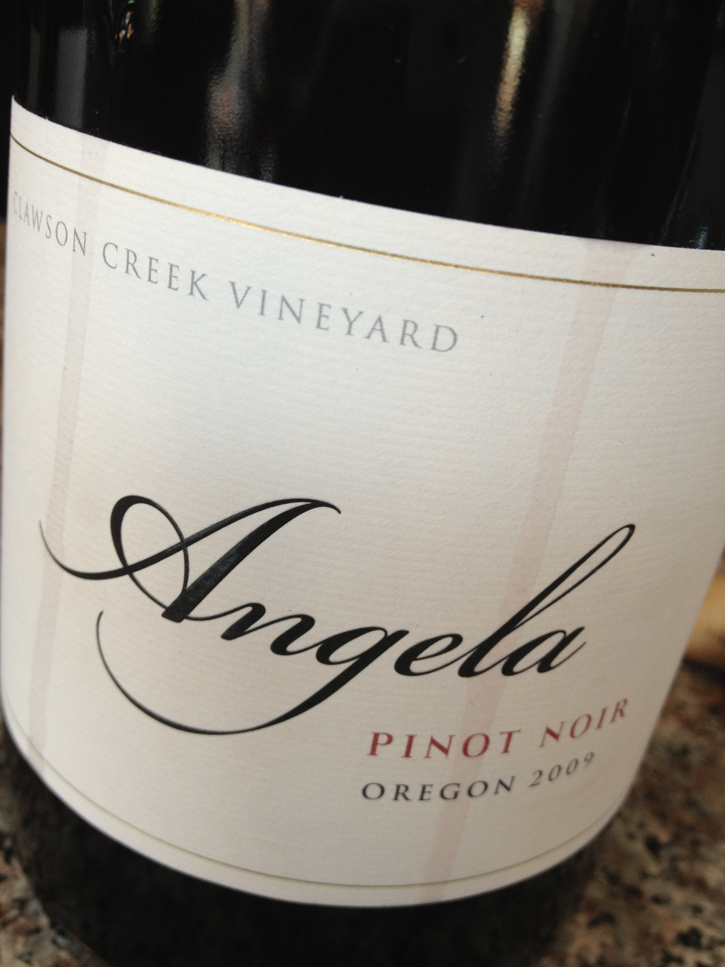 In The Glass: Angela Pinot Noir 2009 (Willamette Valley)