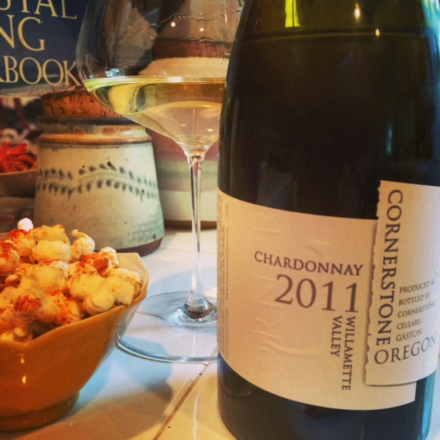 Pair This: Cornerstone Cellars 2011 Chardonnay and Spiced Popcorn