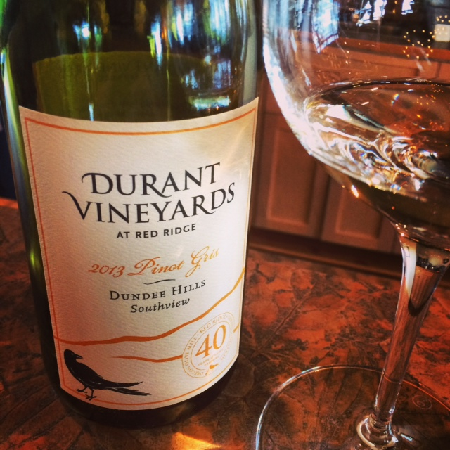 Durant Vineyards delicious 2013 Dundee Hills southside Pinot Gris