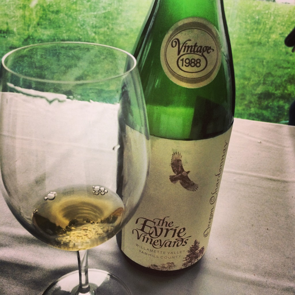 A true testament to Oregon's elegant, ageworthy Chardonnay: The Eyrie Vineyards 1988 Chardonnay flourished with gorgeous aromas and flavors.