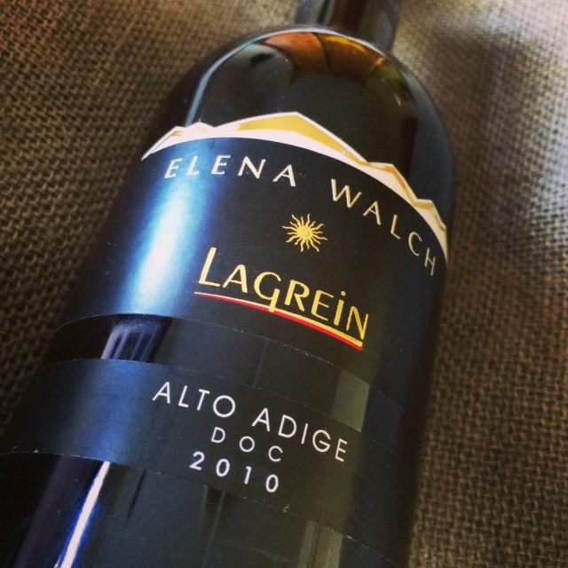A gorgeous Lagrein from my favorite Italian region: Alto Adige - where Lagrein is indigenous to this region.