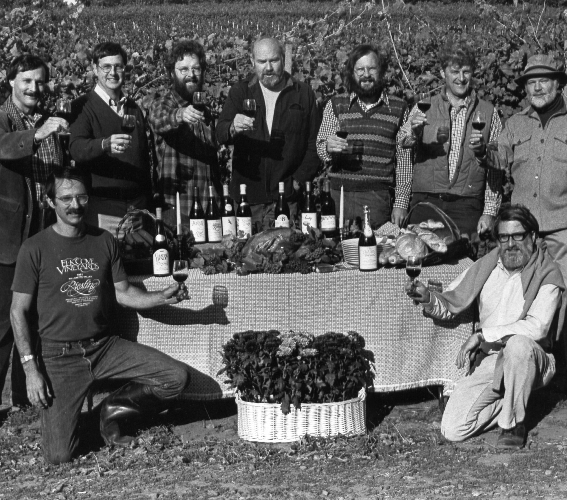1983_Founding members of the Yamhill County Wineries Association_Courtesy Linfield College Archive