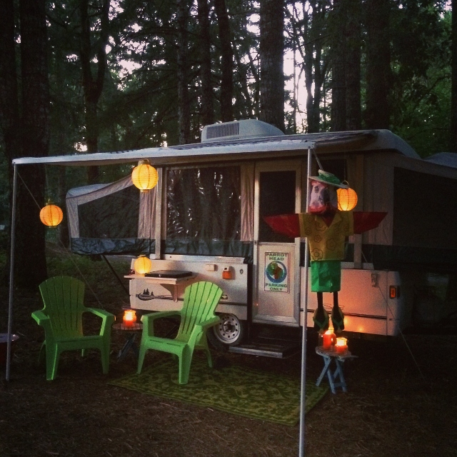 Our Margaritaville pop-up camper was ideal for Wine Camp