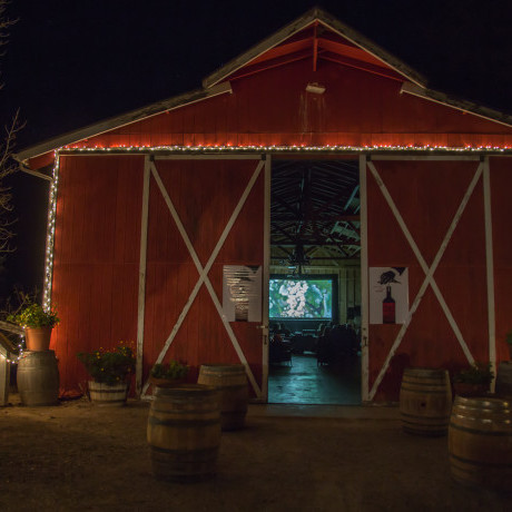 One of the International Wine Film Festival screenings at a participating winery in Santa Barbara county, California, took place in the winery's barn
