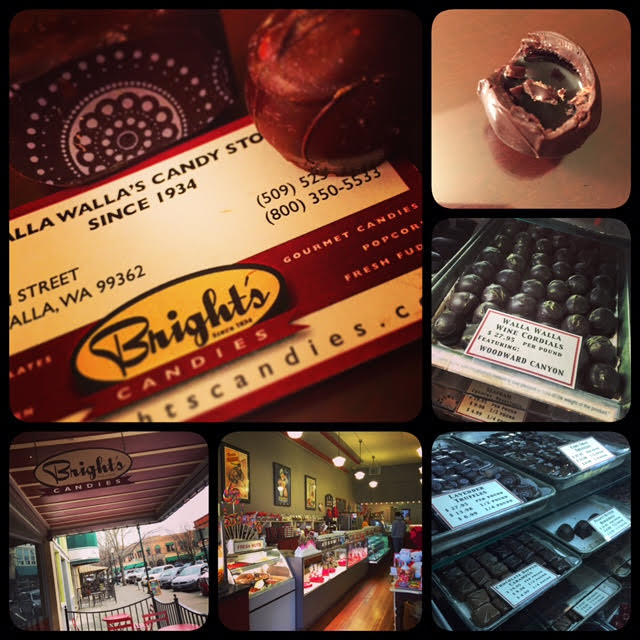 Since 1934, Bright's Candies has made its home in downtown Walla Walla. The wine cordials are actually filled with local wine. Be careful when biting into these tasty chocolates!