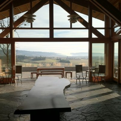 The view from the tasting room at Penner Ash | photo credit: willamettewines.com